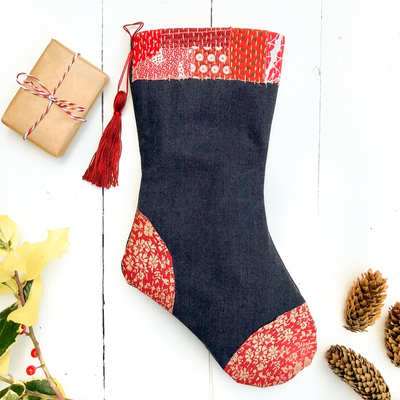 How to make a Christmas stocking, free stocking template 82