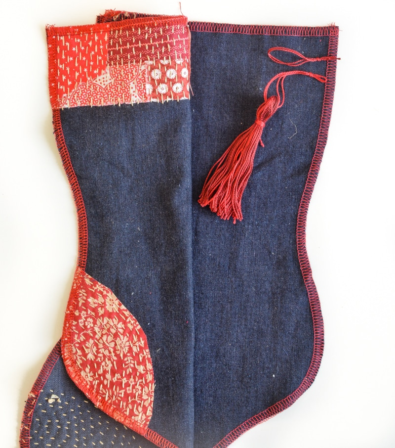 How to make a Christmas stocking, free stocking template 20