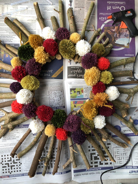 How to make a Christmas wreath 18