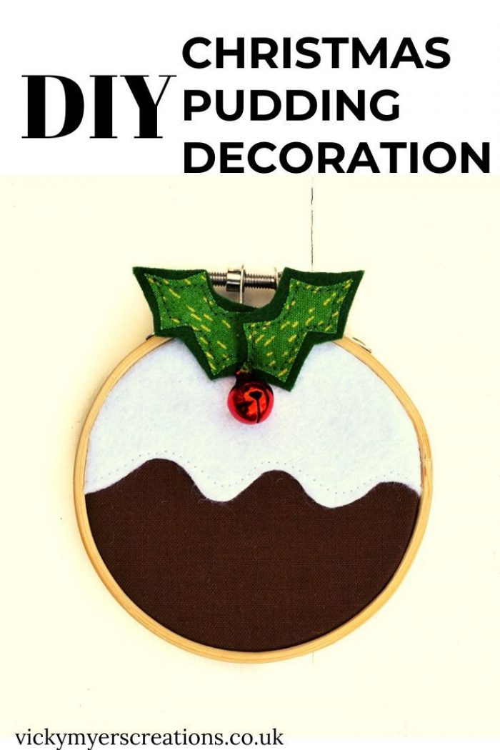 How to make a Christmas pudding decoration 4