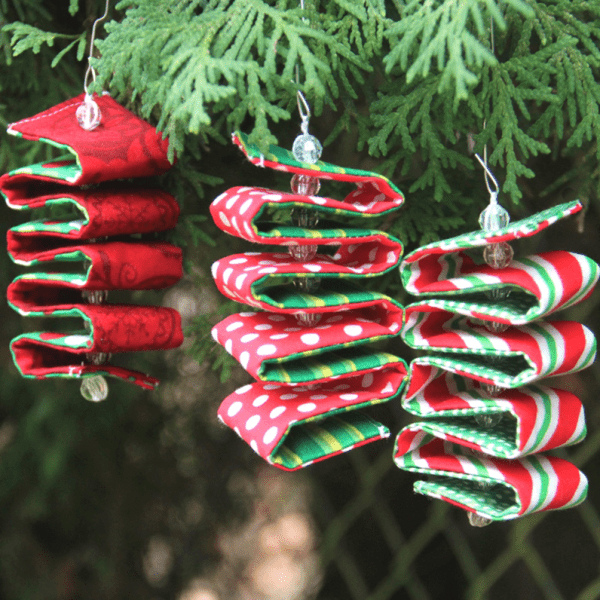 Fabric Ribbon Candy Ornament