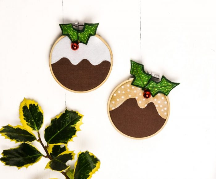 How to make a Christmas pudding decoration 2