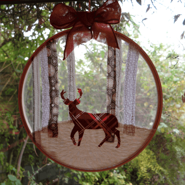 Embroidery Hoop Christmas Decoration -