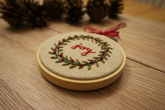 Christmas Embroidery Kit Christmas Embroidery Hoop Art Christmas Embroidery Decoration Craft Kits For Adults Christmas Gift Idea Sewing Gift