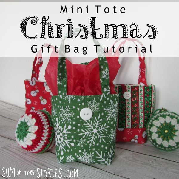 Christmas Gift Bag Mini Shoppers Tutorial