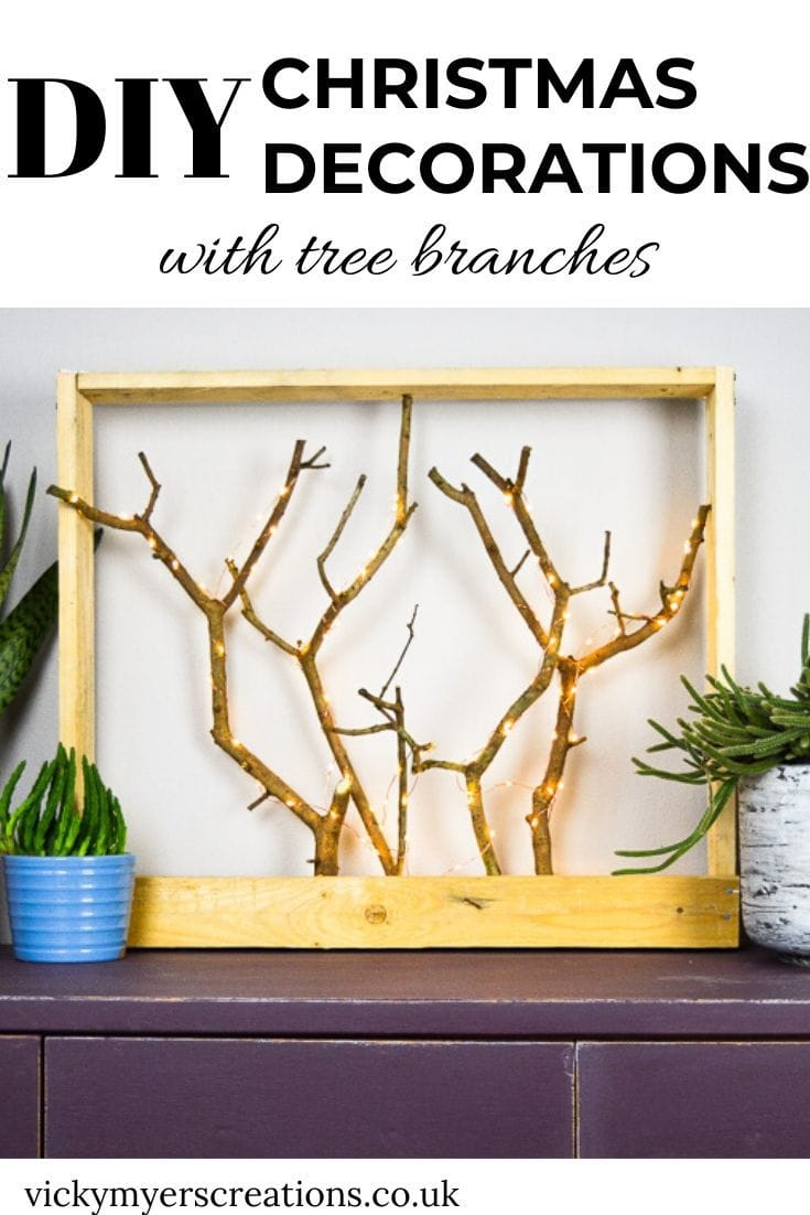 DIY Christmas Decorations with Tree Branches 4