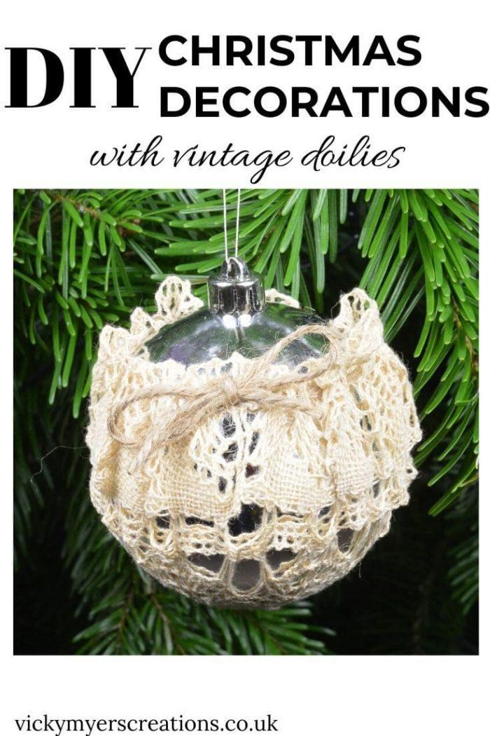 Vintage Doilies Christmas Decorations 4