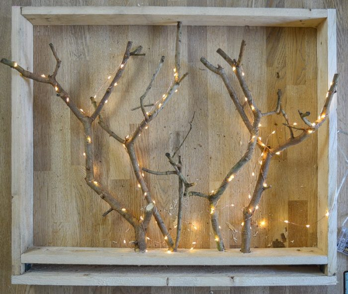 DIY Christmas Decorations with Tree Branches 24