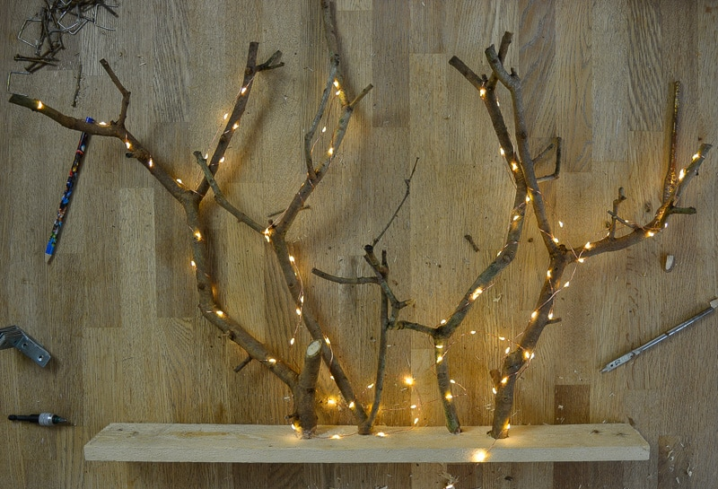 DIY Christmas Decorations with Tree Branches 20