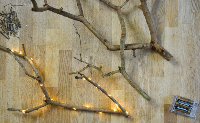 DIY Christmas Decorations with Tree Branches 10