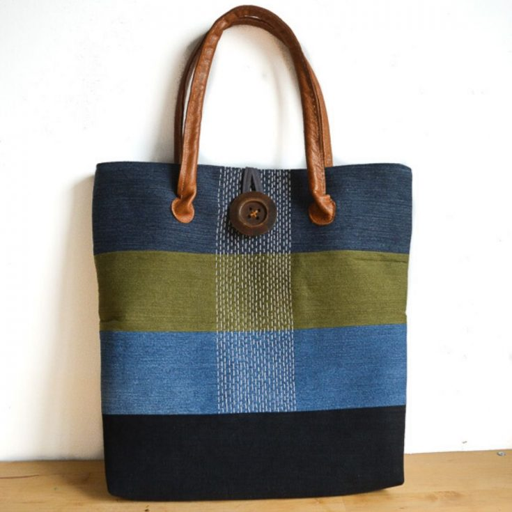 Large Denim Tote Bag Pattern Hack