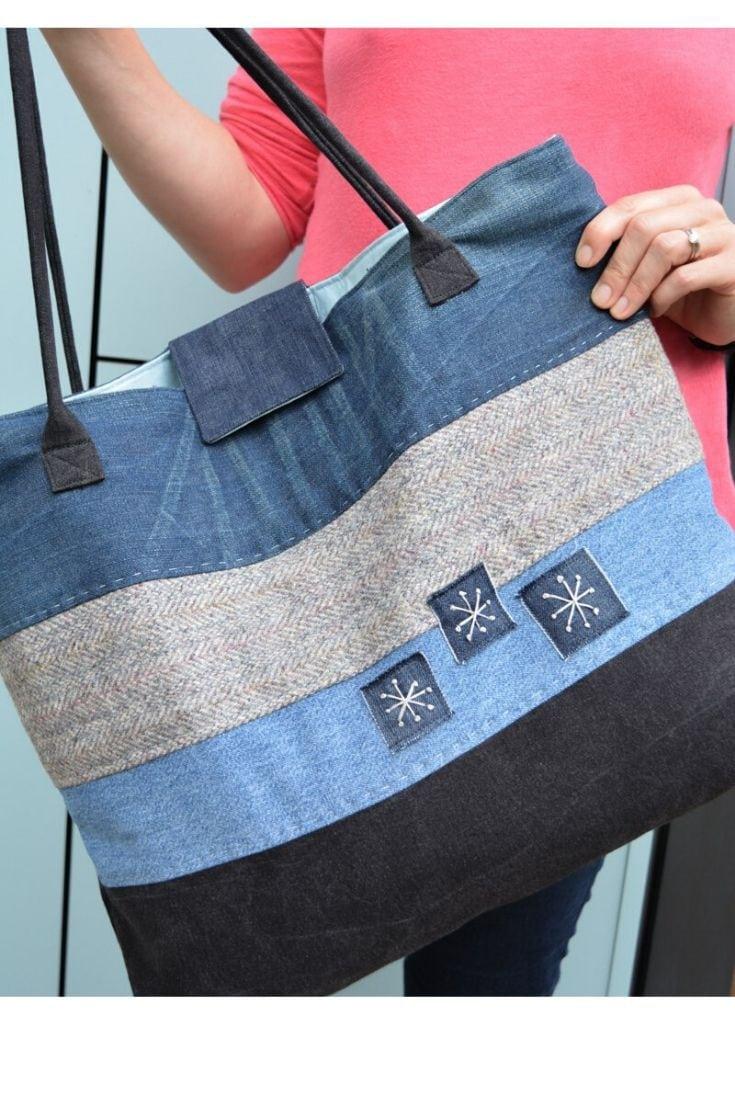 Large Denim Tote Bag Pattern Hack 6