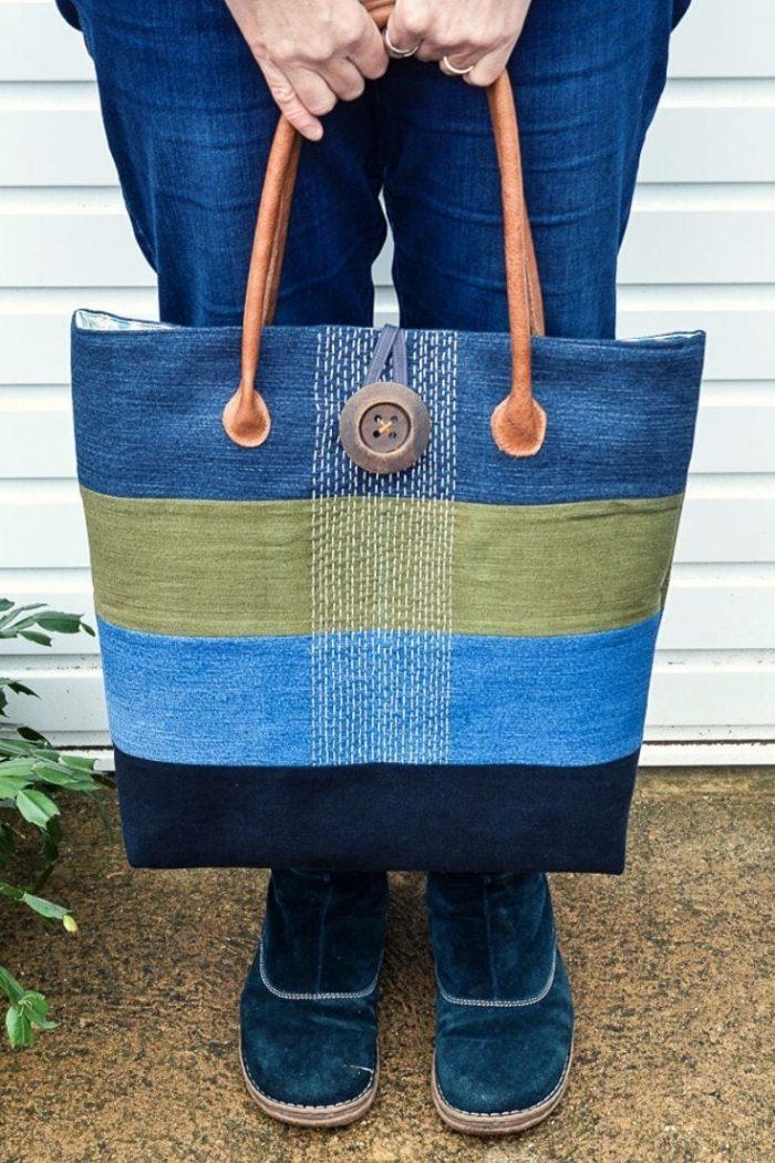 Large Denim Tote Bag Pattern Hack 22