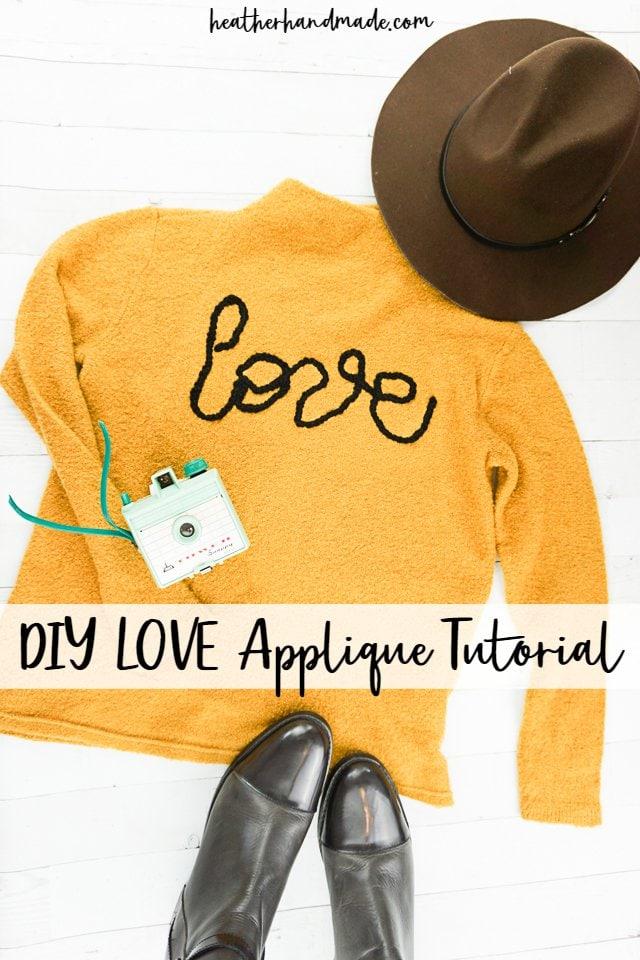 DIY Love Applique Tutorial