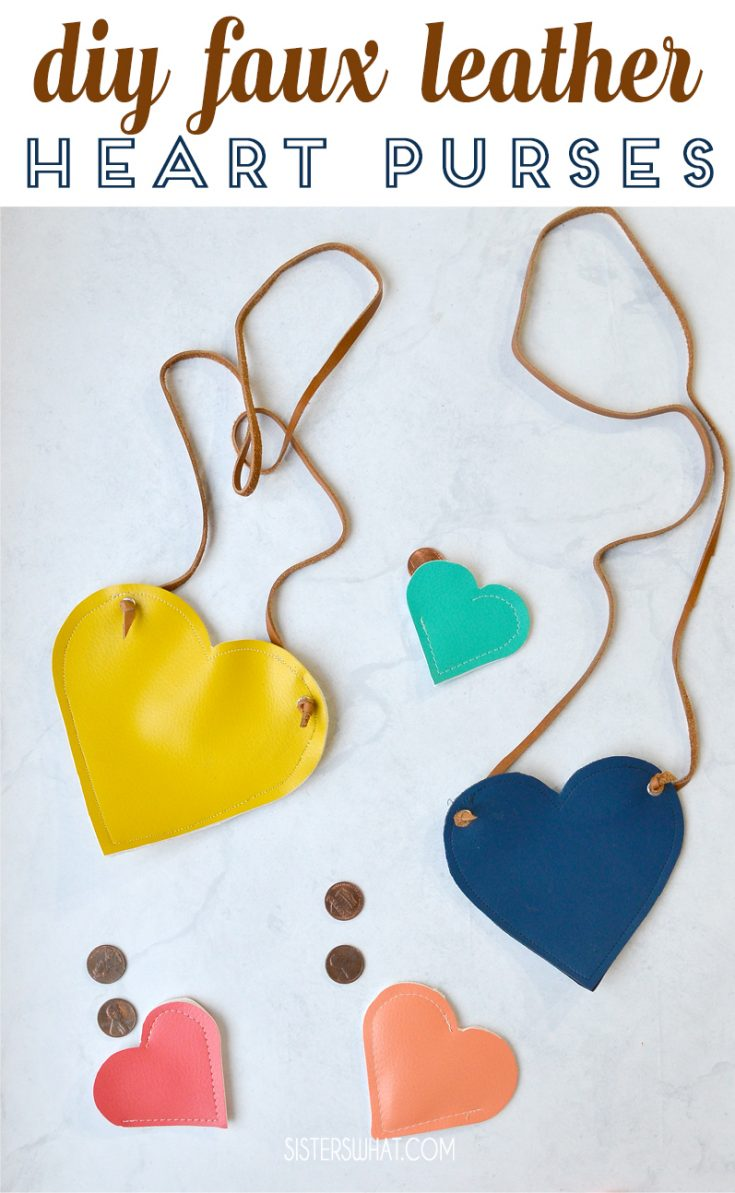 DIY Faux Leather Heart Purse and How to Cut Leather with Cameo 4