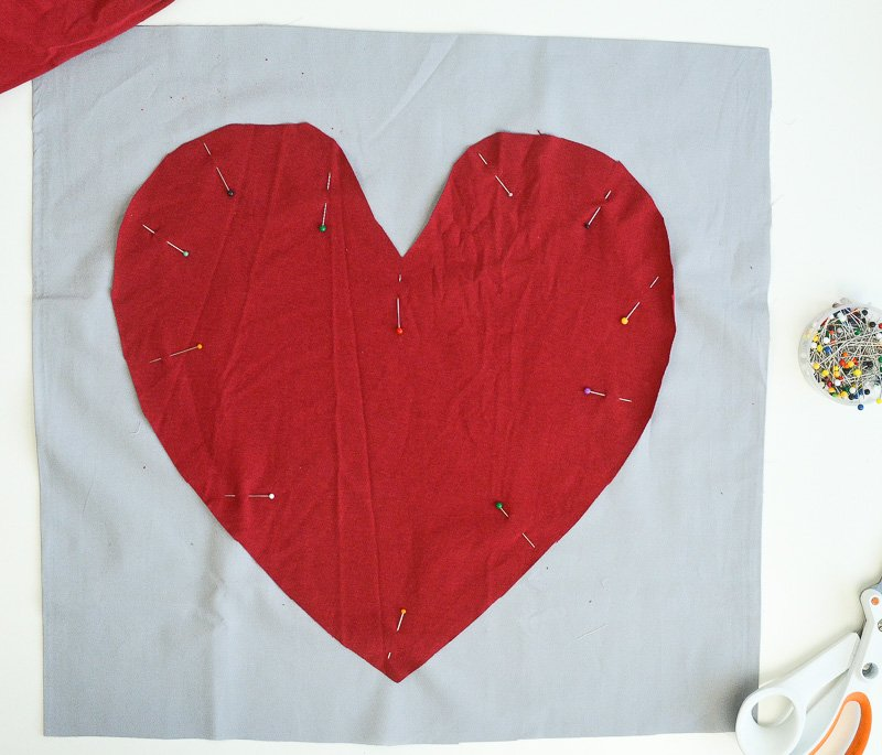 Super Quick and Easy Valentine Heart Pillow, DIY 6