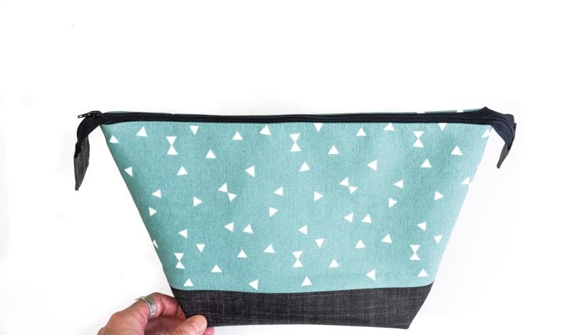 How to make a top zipper closure for a bag 2