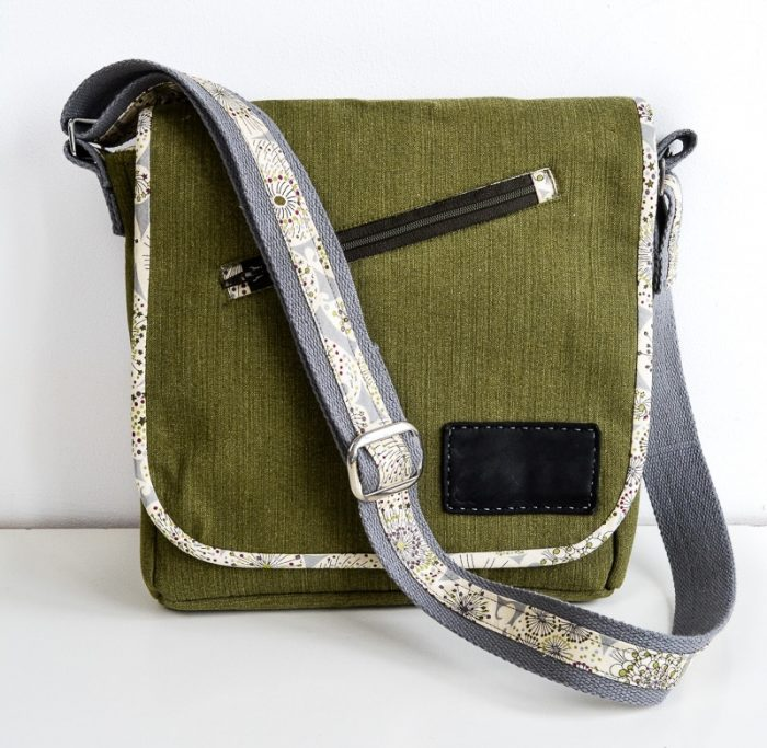 Sew a professional bag with this free messenger bag pattern 4