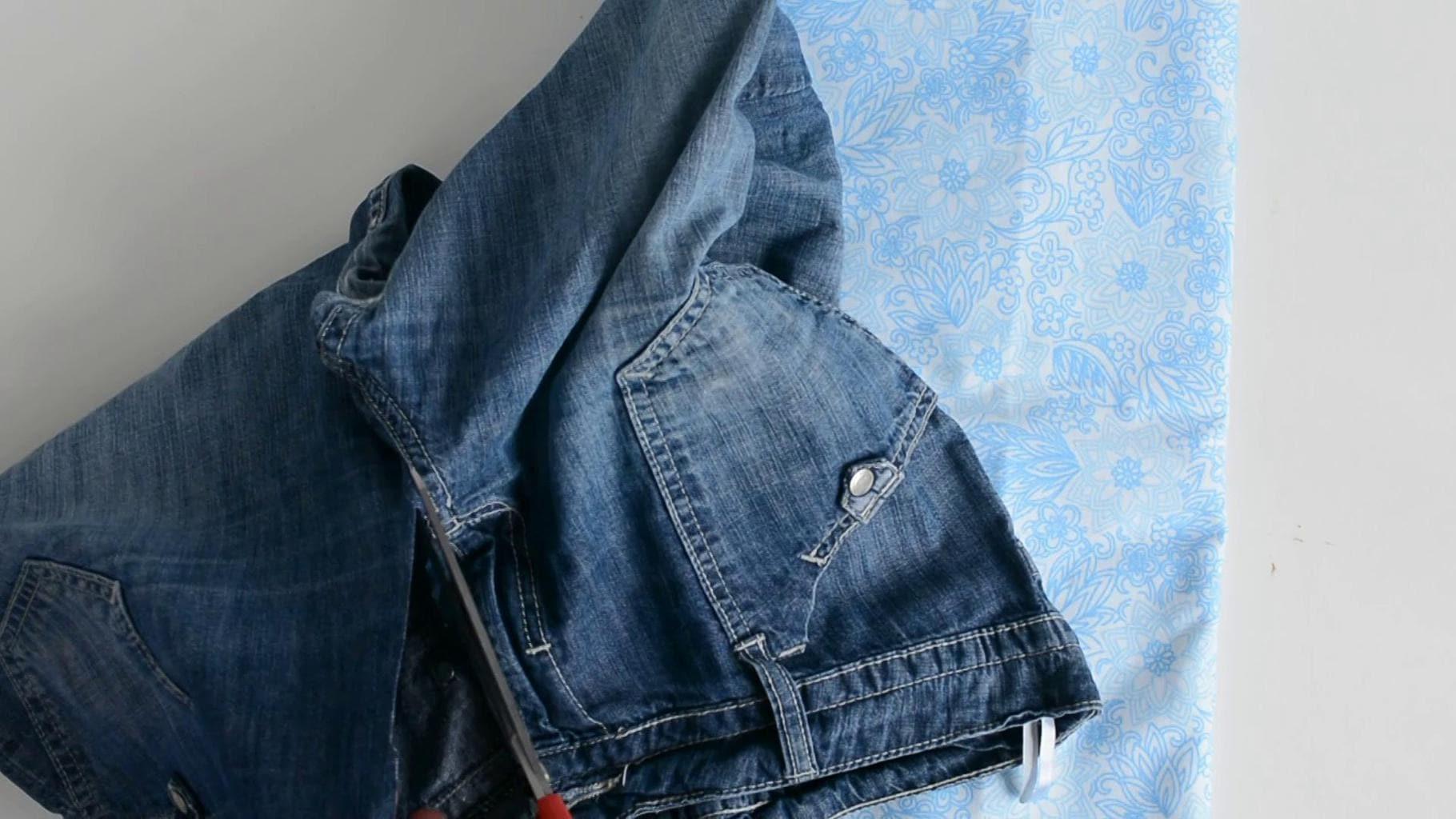 Reycled denim bags pattern 4