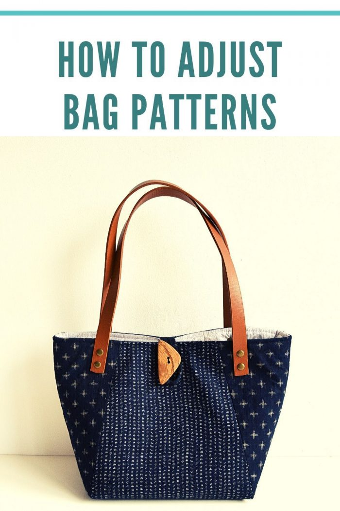 Let's explore how to adjust bag patterns, there are so many ways to change the look of your finished bag, from adjusting the size to changing the hardware, creating bag panels, bag fastenings and bag handles.