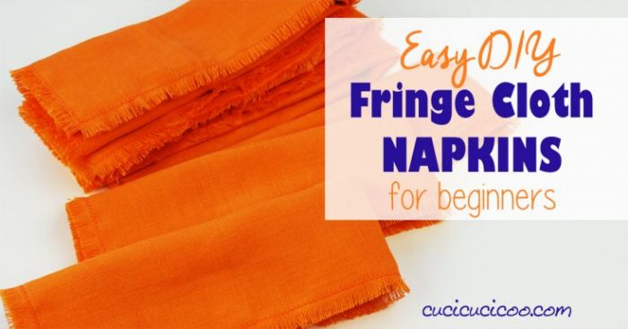 DIY Fringe Cloth Napkins (beginner's sewing, no mitered corners!)