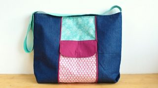 Tote Bag Pattern with Zipper, in just 7 steps