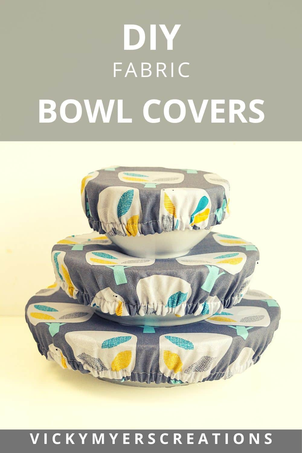 super easy DIY fabric bowl covers. Ditch your plastic wrap and replace with these super cute bowl covers.