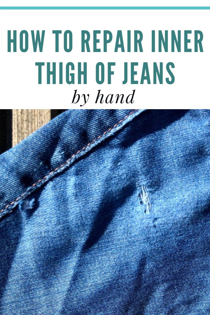Learn how to repair Jean's by hand, rips and holes. Save your favourite Jean's with this easy inner thigh mend.